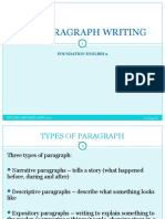 NOTES Paragraph Writing