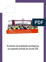A Evolução da População portuguesa na segunda metade do século XX