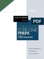 Bat Anglais Lv1 Ecricome Prepa 2015 v2