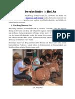 Handwerksdörfer in Hoi An