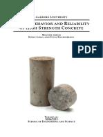 Fatigue Behavior and Reliability of High Strength Concrete