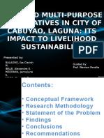 SELECTED MULTI-PURPOSE COOPERATIVES IN CITY OF CABUYAO, LAGUNA