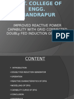 Improved Reactive Power Capability With Grid Connected Doubly Fed Induction Generator
