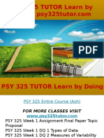 PSY 325 TUTOR Learn by Doing- Psy325tutor.com