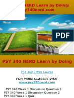 PSY 340 NERD Learn by Doing- Psy340nerd.com