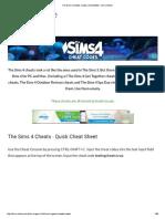 The Sims 4 Cheats, Codes, Unlockables - Sims Online