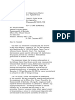 US Department of Justice Civil Rights Division - Letter - lofc77