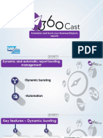 360Cast solution for SAP BusinessObjectsDynamic and automatic report bursting management