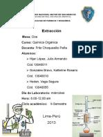 P. de Lab. N°3 Extracción Mesa 2