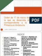 Resumen Orden de 17 de Marzo de 2015
