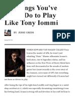 tony iommi black sabbath geezer butler bill ward  10 Things You'Ve Gotta Do to Play Like Tony Iommi _ GuitarPlayer