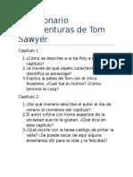 Cuestionario Las Aventuras de Tom Sawyer