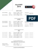 Calendario Playoff 2016 BetOnMe