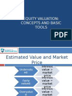 Equity Valuation Concepts and Basic Tools (CFA) CH 10