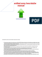 Pdf guide sony hws-bta2w manual for free