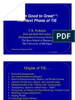The Next Phase of TiE- Presentation by Prof. C K Prahalad August 2007