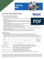 Mobil 1 Rebate Form