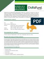 Perfil de Capacidades de la Primera Etapa de Vida en las Oficinas de ChildFund Bolivia