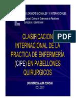 CIPE en Pabellon Quirurgico