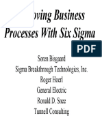 Improving Business Processes With Six Sigma - Soren Bisgaard