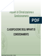 Classificazione Impianti condizionamento