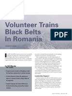Volunteer Trains Black Belt in Romania - Robert Lochner