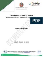 1lineamientos Generales Para Actualizar El Mdc