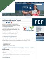 Actividades de Desarrollo Personal _ Universidad Austral