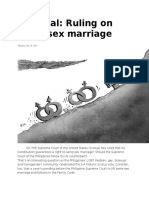Editorial on same sex marriage