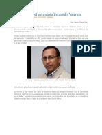La condena del periodista Fernando Valencia