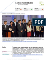 Boletín de noticias KLR 22ABR2016