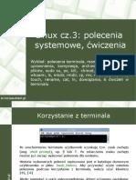 System Linux Cz3 Polecenia Systemowe Cwiczenia