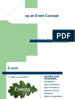 2- Planning & Develop an Event Concept