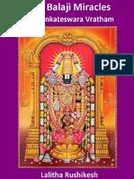 Lord Balaji Miracles and Vratham English Book