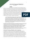 wpa outcome proposal reflection