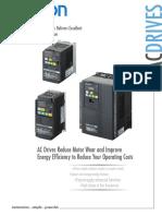 Omron 3G3JX A4015 Datasheet