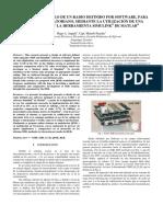 Diseño y Desarrollo de Un Radio Definido Por Software