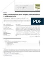 Protein Carbonylation and Metal-catalyzed Protein Oxidation in a Cellular Perspective