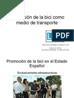 Promoción del uso de la bici como medio de transporte