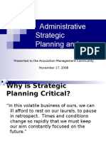 Strategic Planning and Change