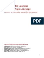 National ASL Standards