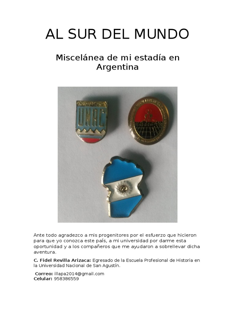 2fd145d2a2f1b Al Sur Del Mundo  Miscelánea de Mi Estadía en Argentina