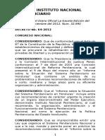 Ley y Reglamento Del Sistema Nacional Penitenciario Media Carta