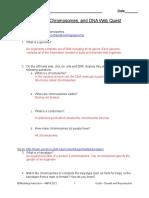 03 genome chromosome and dna webquest
