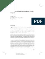 Beato, Claudio C.; Silva, Braulio, Tavares, Ricardo. 2008. Crime e Estratégias de policiamento. Dados (Rio de Janeiro). , v.51, p.51 - , 2008.