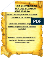 Organos de La Funcion Judicial