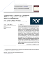 ScienceDirect- Bridging the gap- causality at a distance in children´s categorization and inferences about internal properties