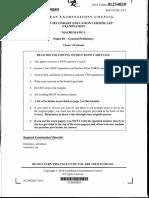 Maths June 2015 Paper 2