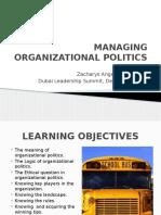 Managing Organizational Politics (1)