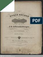 Kurze Regeln des reinsten Satzes (Albrechtsberger, Johann Georg)